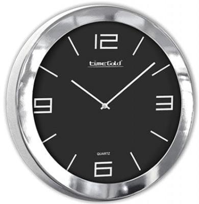 Time Gold - Time Gold İstanbul Metal Yuvarlak Cam Duvar Saati