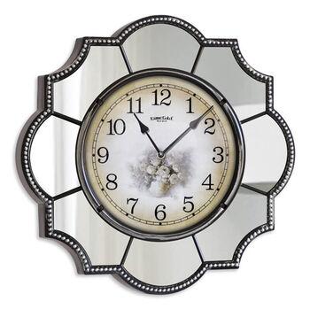 Time Gold Pamukkale Dekoratif Ayna Çerçeveli Akar Saniye Duvar Saati