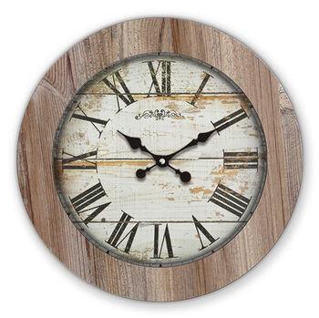 Time Gold Romen Rakamlı Beyaz Eskitme Ilgaz Ahşap Duvar Saati