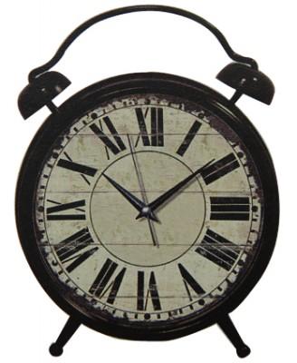 Time Gold - Time Gold Romen Rakamlı Gerçek Cam Metal Gövde Masa Saati