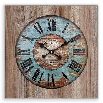 Time Gold Romen Rakamlı Mint Uludağ Ahşap Kare Duvar Saati