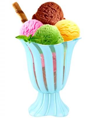 Diğer - Titiz 2li Dondurma ve Tatlı Kasesi Mavi 230ml