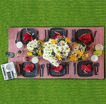 Titiz Lovely 6 Kişilik Çantalı Piknik Seti 32 Parça Asorti