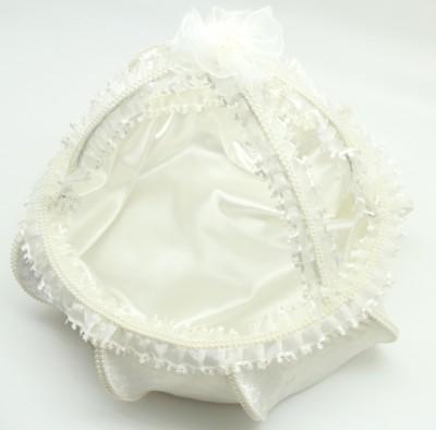 Diğer - Tutmalı Kadife Kına Nişan Düğün Sepeti İncili Beyaz