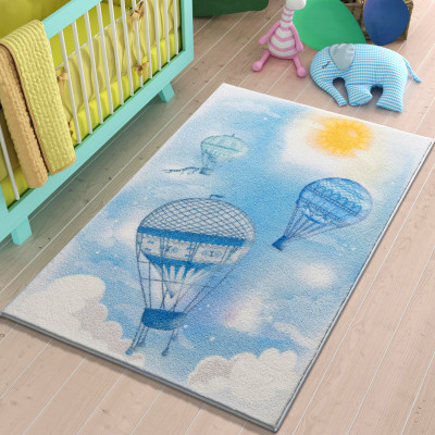 Confetti - Uçan Balon Çocuk ve Bebek Odası Halısı 100x150cm