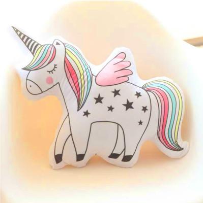 Unicorn Boynuzlu At 3D Özel Kesim Yastık 53cm - Thumbnail