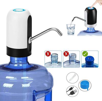 Usb ile Şarj Edilebilir Elektrikli Otomatik Damacana Su Pompası - Thumbnail