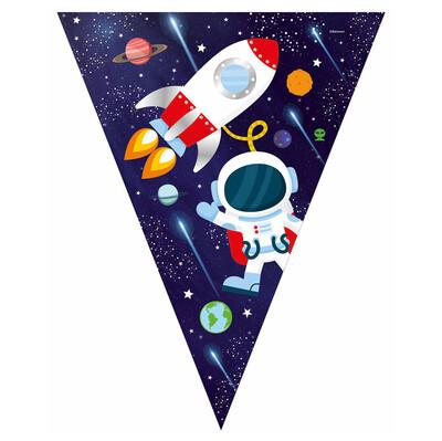 Diğer - Uzay Temalı Kozmik Galaksi Lisanslı Üçgen Flama Bayrak