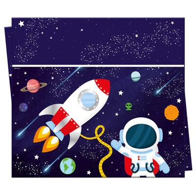 Diğer - Uzay Temalı Kozmik Galaksi Plastik Masa Örtüsü 120x180 cm