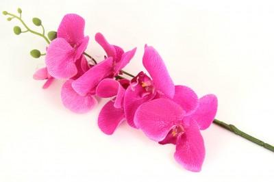 Diğer - Uzun Dal Islak Yapay Orkide Çiçeği Fuşya