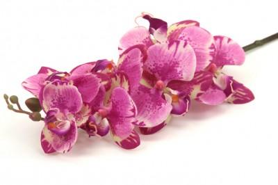Diğer - Uzun Dal Islak Yapay Orkide Çiçeği Mor Tonları