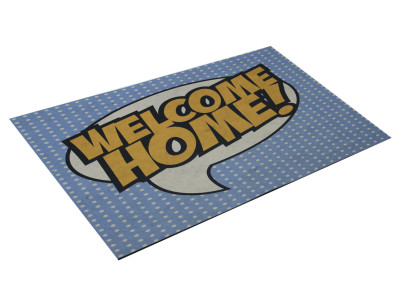 Diğer - Welcome Home Yazılı Dijital Kapı Önü Paspası 40x65cm