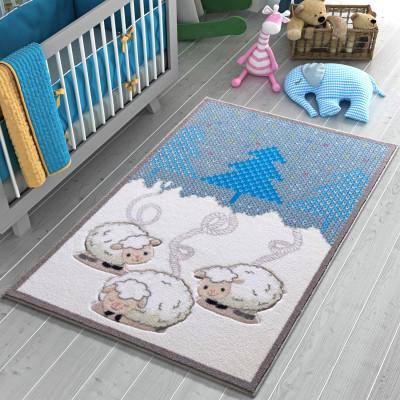 Confetti - Wooly Kuzular Çocuk ve Bebek Odası Halısı 100x150cm