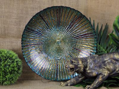 Diğer - Yaldızlı Zümrüt Meyvelik Dekoratif Tabak 40cm