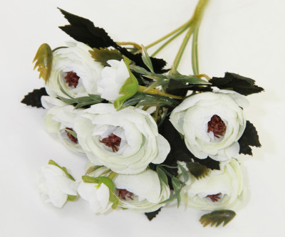 Diğer - Yapay Çiçek Gül Demeti Beyaz