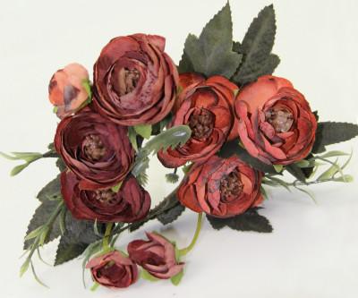 Diğer - Yapay Çiçek Gül Demeti Bordo