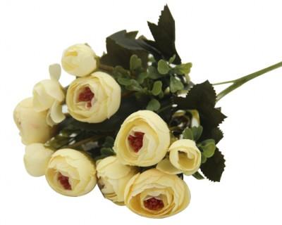 Diğer - Yapay Çiçek Gül Demeti Krem
