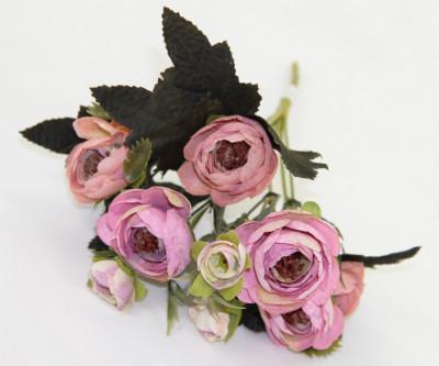 Diğer - Yapay Çiçek Gül Demeti Lila