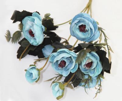 Diğer - Yapay Çiçek Gül Demeti Mavi