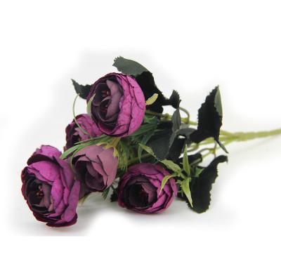 Diğer - Yapay Çiçek Gül Demeti Mor