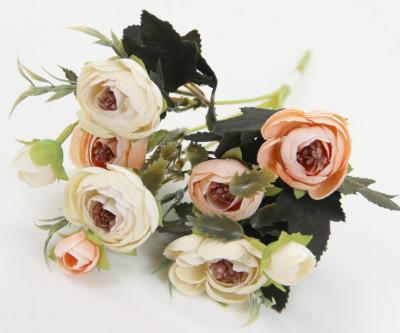 Diğer - Yapay Çiçek Gül Demeti Somon