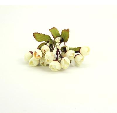 Diğer - Yapay Çiçek Mini Şakayık Demeti 20cm Beyaz