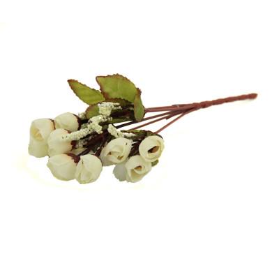 Yapay Çiçek Mini Şakayık Demeti 20cm Beyaz - Thumbnail