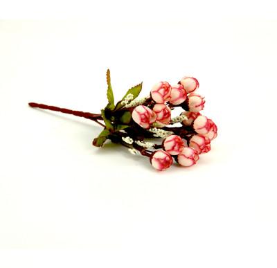 Diğer - Yapay Çiçek Mini Şakayık Demeti 20cm Beyaz Pembe