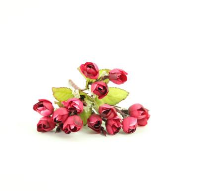 Diğer - Yapay Çiçek Mini Şakayık Demeti 20cm Bordo