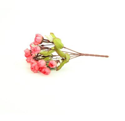 Diğer - Yapay Çiçek Mini Şakayık Demeti 20cm Mercan