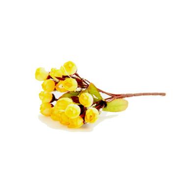 Diğer - Yapay Çiçek Mini Şakayık Demeti 20cm Sarı