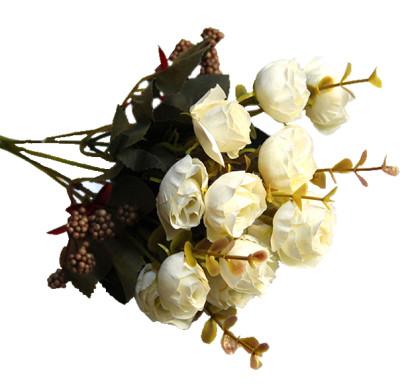 Diğer - Yapay Çiçek Pıtırcıklı Gül Demeti 30cm Beyaz