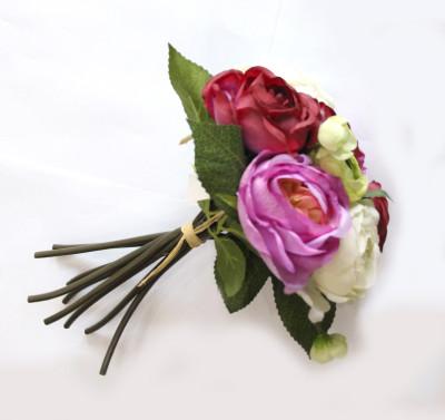 Diğer - Yapay Çiçek Rengarenk Gül Demeti 25cm