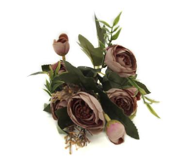 Diğer - Yapay Çiçek Şakayık Demeti 27cm Gül Kurusu