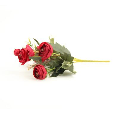 Yapay Çiçek Şakayık Demeti 27cm Kırmızı - Thumbnail