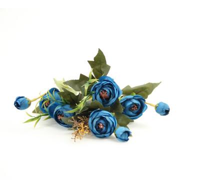 Diğer - Yapay Çiçek Şakayık Demeti 27cm Lacivert