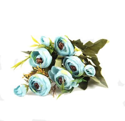 Diğer - Yapay Çiçek Şakayık Demeti 27cm Mavi
