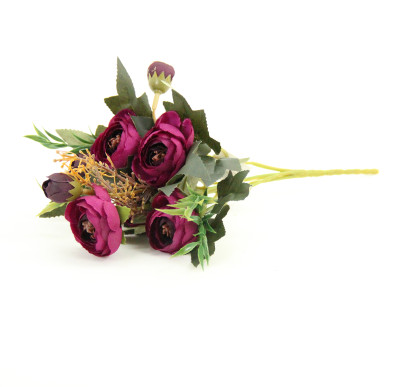 Diğer - Yapay Çiçek Şakayık Demeti 27cm Mor
