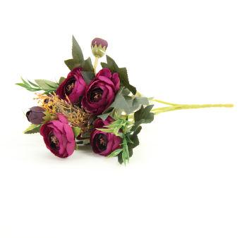 Yapay Çiçek Şakayık Demeti 27cm Mor