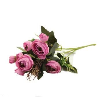 Yapay Çiçek Şakayık Demeti 27cm Pembe