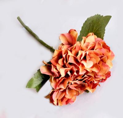 Diğer - Yapay Çiçek Tek Dal Ortanca 35cm Hardal