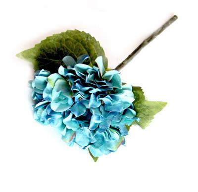 Diğer - Yapay Çiçek Tek Dal Ortanca 35cm Mavi