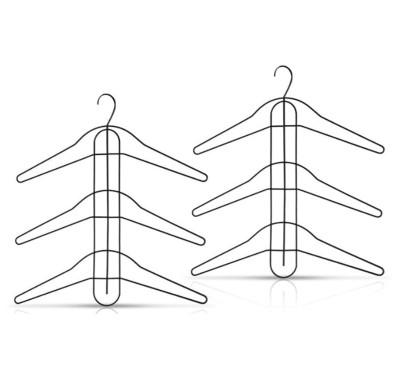 Yer Kazandıran 3 Katlı Dolap Düzenleyici Gömlek Askısı - Thumbnail