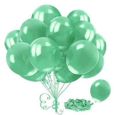 Diğer - Yeşil Renkli Metalik Süsleme ve Parti Balonu 20li