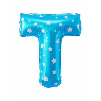 Yıldız Desenli Harf Folyo Balonlar Mavi