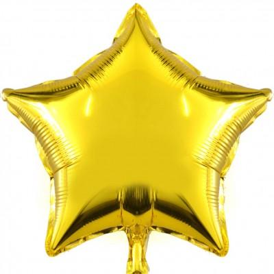 Diğer - Yıldız Şeklinde Folyo Balon 40cm Gold