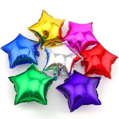 Yıldız Şeklinde Folyo Balon 40cm Gümüş - Thumbnail