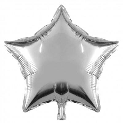 Diğer - Yıldız Şeklinde Folyo Balon 40cm Gümüş