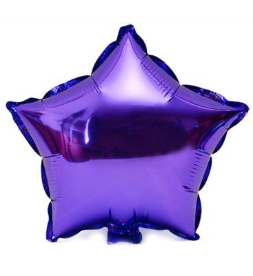 Diğer - Yıldız Şeklinde Folyo Balon 40cm Mor