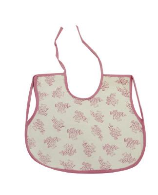Diğer - Yuppy Baby Yazılı Giydirmeli Mama Önlüğü Pembe